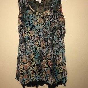 American Rag Plus Size Sleeveless Floral Dress